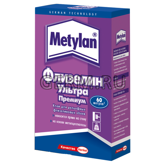 Клей метилан для обоев на флизелиновой основе 2